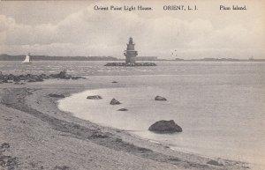 P1710 1915 used orient point lighthouse orient LI ny, plum island