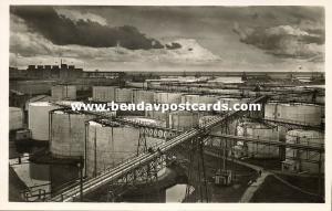 romania, CONSTANTA CONSTANȚA, Harbour Scene, Oil Tanks (1930s) RPPC