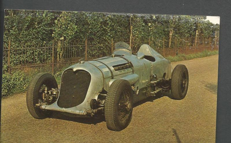 1932 Napier-Railton Post Card Montagu Motor Museum