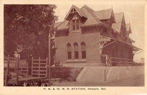 Newark Delaware Train Station Vintage Postcard AA13395