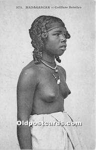 Madagascar Coiffure Betsileo African Nude Unused