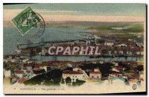 Old Postcard Marseille General View