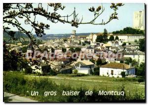 Postcard Modern Montcuq Montcuq From A Big Kiss
