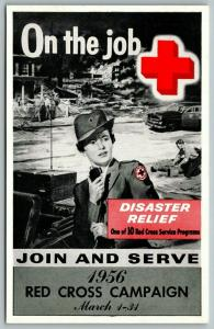 Red Cross Nurse~On the Job~Disaster Relief Join & Serve~Radio~Ambulance~1956 PC