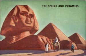 Shell Gas Gasloline Promo SPHINX & PYRAMIDS EGYPT Postcard #4