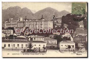 Postcard Old Winter Palace Hotel Menton