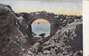 The Stone Arch on the Cliffs, NEWPORT, Rhode Island, PU-1906