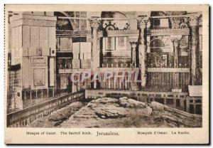 Postcard Old Mosque of Omar The sacred rock Jerusalem Mosque of Omar
