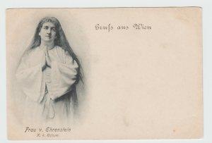 Vintage Postcard Gruss aus Wien 1897 Frau V. Ehrenstein Vienna Austria