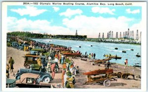 LONG BEACH, California CA   1932 OLYMPIC MARINE BOATING COURSE   Postcard