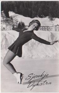 1955 HOLLAND CHAMPION FIGURE SKATER - SJOUKJE DYKSTRA