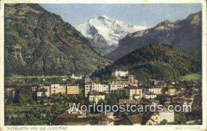 Und die Jungfrau Interlaken Swizerland 1934 Missing Stamp
