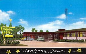 Jackson Tennessee birds eye view Holiday Inn hotel vintage pc Z21398