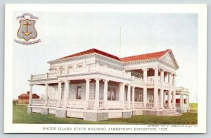 Jamestown Expo VA~Wrap-Around Porch~Rhode Island State Bldg~Anchor Seal 1907 PC