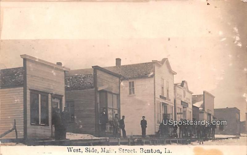 West Side Main Street Benton IA Writing on back