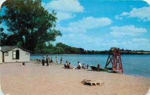 Geneva New York~Seneca Lake Park~Swim Beach House~Platform~Bicycle~1950s