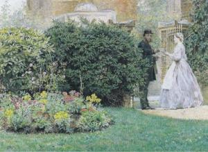 Frederick Waller My Front Garden Preston Museum Painting Postcard