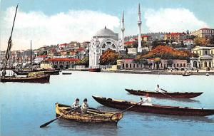 Turkey Old Vintage Antique Post Card Mosquee de Dolma Bagtche Constantinople ...