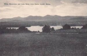 Maine Lovell White Mountains And Lake Kezar From Center Lovell Albertype