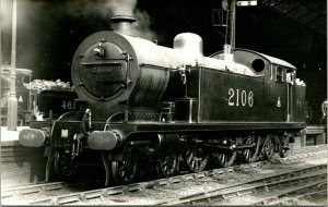 Vtg Locomotive Railroad Photograph - Beyer Peacock & Co UK Steam Engine 2106