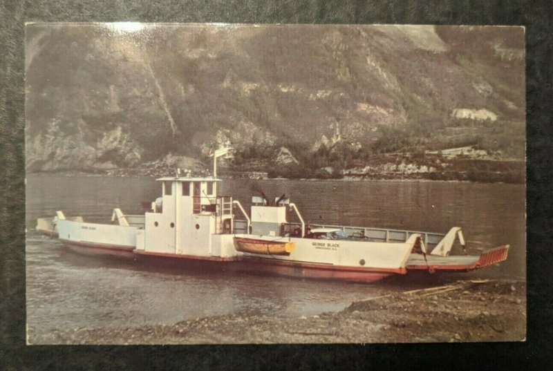Mint Vintage Free Ferry Dawson Hwy British Columbia Canada Real Photo Postcard