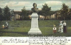 Branch Brook Park, Mendelssohn Statue Newark NJ 1906