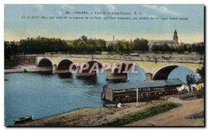 Old Postcard Angers bass Chain Bridge