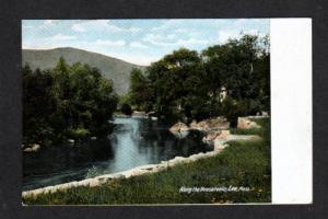 MA View Hoosatonic River LEE MASS UDB Postcard 1900's Massachusetts