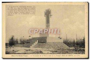 Old Postcard Neuville-Saint-Vaast The Monument of the Resurrection of Poland