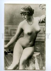 177927 Fashionable hairstyle NUDE Woman BELLE Vintage PHOTO