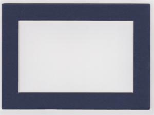 Custom Cut Postcard Mat Fits 5x7 Frame NAVY BLUE