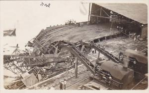 Panama Canal Zone Wreck Of The Balboa Pier Real Photo