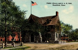 Massachusetts Mansfield Public Library and U A R Hall
