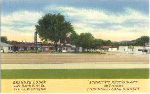 Linen of Grandee Lodge Yakima Washington WA & Smitt's Restau