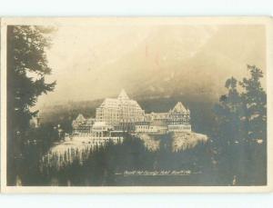 1920's rppc HOTEL SCENE Banff Alberta AB W0905