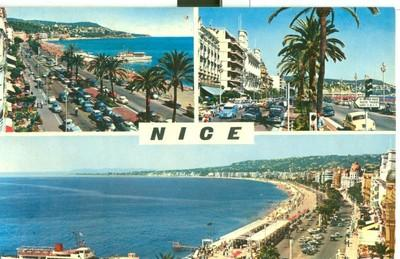France, Nice, La Promenade des Anglais, 1960s used Postcard