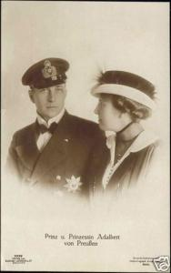 Prince and Princess Adalbert of Prussia (ca. 1910) RPPC