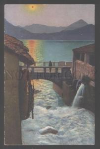 103123 ITALY LAGO DI COMO Fiumelatte SUNSET Vintage PC