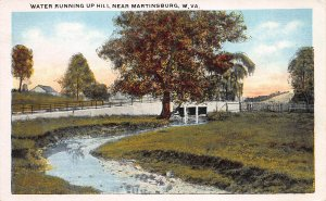 Water Running Up Hill Near Martinsburg, West Virginia, Early Postcard, Unused