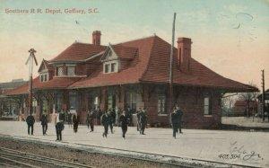 GAFFNEY , South Carolina , PU-1909 ; Southern Railroad Train Depot