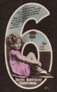 Child With Cuckoo Clock Toy Teddy Bear RPC Old Postcard