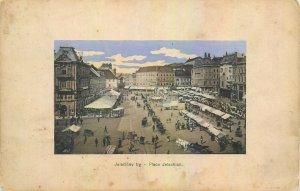 Postcard Croatia Jelacicev Jelachich square