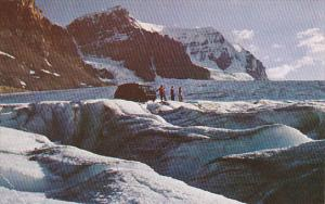 Canada Alberta Jasper Snowmobile On Athabasca Glacier