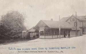 SUMMIT HILL, Pennsylvania, PU-1911; Switch Back Railroad Station, Front Street