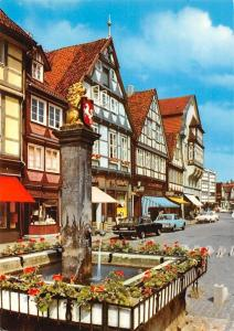 Celle Loewenbrunnen am Grossen Plan Fountain Street Vintage Cars Auto