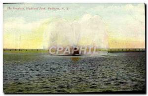 Postcard Old Buffalo The Fountain Highland Park Rochester