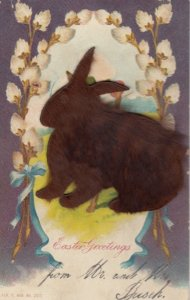 Attached FUR Easter Rabbit , 00-10s