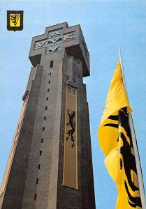 Belgium Diksmuide De IJZertoren met de leeuwevlag Tower