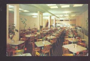 PASADENA CALIFORNIA CROWN CAFETERIA ROUTE 66 INTERIOR ADVERTISING POSTCARD