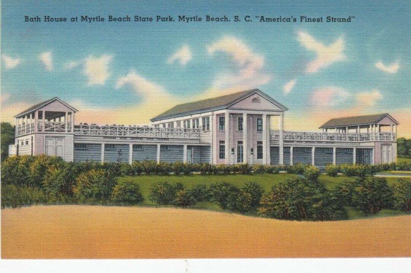 MYRTLE BEACH , South Carolina, 1930-40s : Bath House , State Park